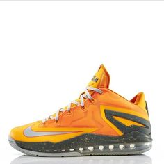 "Check out release info for the ""Atomic Mango"" Nike LeBron 11 Low on nicekicks.com. Cop or drop?"