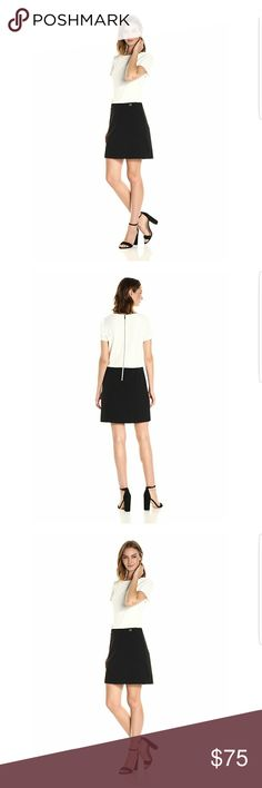 NWT Tommy Hilfiger short sleeve dress size 4 New no flaws White and black Tommy Hilfiger Dresses Midi