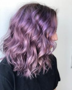 Light Purple and Silver Balayage