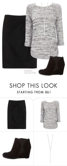 """winter skirt outfit"" by elainescollection ❤️ liked on Polyvore featuring J.Crew, Wallis, Stuart Weitzman and EF Collection"
