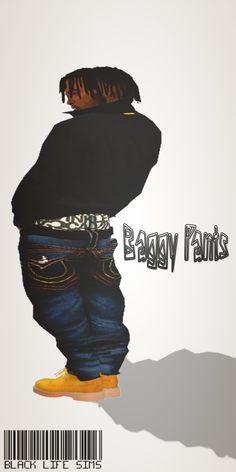 BLVCK LIFE SIMZ baggy jeans