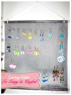 TitiCrafty: Craft from the Past. Earrings Holder, SO EASY and SO USEFUL!!!