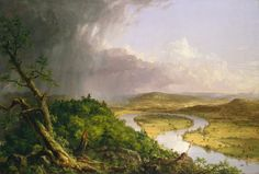 Thomas Cole. Related to #109. The Oxbow (View from Mount Holyoke, Northampton, Massachusetts, after a thunderstorm). Thomas Cole. 1836 CE. Oil on canvas.