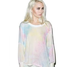 Wildfox Couture Dream Tie Dye Nevada Sweater NWT Wildfox Couture Dream Tie Dye Nevada Sweater. Gorgeous multi-color pastel tie dye pattern. Size Medium. Please view all photos and ask any questions you may have before purchasing    ✨NO TRADES/NO PP✨ Wildfox Tops
