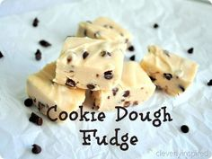 Cookie Dough Fudge #Fudge, #CookieDough