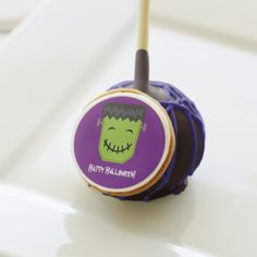 By heartlocked:  Frankenstein Happy Halloween Cake Pops - click/tap to personalize and buy