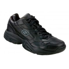 64ade2362653 This men s black slip resistant work shoe is great for restaurant workers. SR  Max