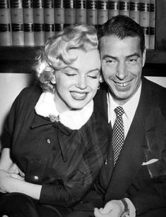 Marilyn and Joe on their wedding day, 14 January 1954.