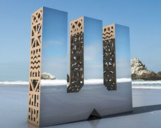Character's recent installations campaign for the San Francisco Design Week 2015 Wayfinding Signage, Signage Design, Environmental Graphics, Environmental Design, Monument Signs, San Francisco Design, Outdoor Signage, 3d Typography, Public Art