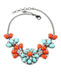 Another great find on #zulily! Turqoise & Coral Sammy Necklace #zulilyfinds