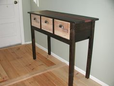 Wine crate table