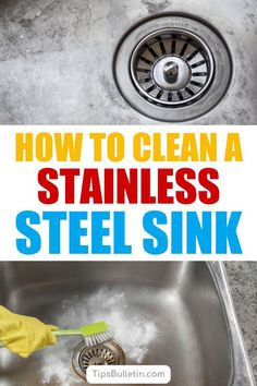 Learn how to clean a stainless steel sink. Learn how to make 3 homemade steel cleaner recipes using baking soda, white vinegar, and olive oils. These simple DIY recipes will work to remove stains from all your home's stainless steel surfaces.