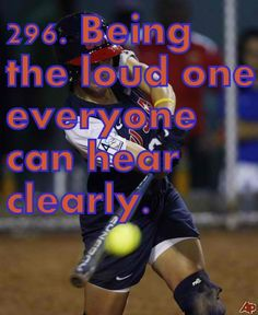 love being the loudest one in the dugout so people cant tell me im not. Softball Quotes, Girls Softball, Volleyball, Soccer, Softball Stuff, Softball Chants, Sport Quotes, Way Of Life, My Life