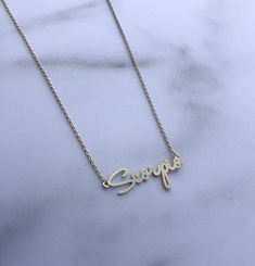 Dainty script horoscope necklace chain with extender Available in gold or silver.at this time we only have this Gold Scorpio. Aquarius Zodiac, Scorpio, Horoscope Signs, Arrow Necklace, Chain, Silver, Gold, Jewelry, Jewels