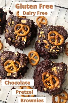 Love chocolate. Then you need these fudgy gooey gluten free chocolate pretzel brownies in your life. Made with only 9 simple ingredients you can whip up a batch of these pretzel brownies in less than 30 minutes.
