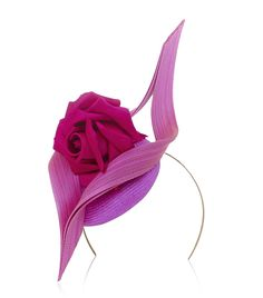 Philip Treacy Mini Beano with Rose Hat - a fascinating fascinator! Millinery Hats, Fascinator Hats, Fascinators, Headpieces, Philip Treacy Hats, Rose Hat, Race Wear, Ascot Hats, Wedding Hats