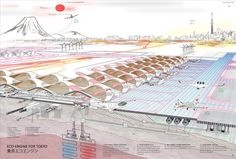 """glimpse of the 2016 Fentress Global Challenge """"Airport of the Future"""" shortlist Tokyo Cellular Airport 