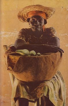 "LIKE A PAINTING... kicker-of-elves: "" Woman at Jacmel, Haiti National Geographic January 1976 Thomas Nebbia """