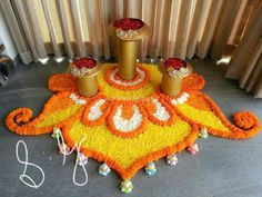 32 Diwali DIY Decoration Ideas (You Must Try) The season of lights and joy is here. Yes, the festival of Diwali is getting closer and it is the right time for you guys to make some amazing plans … Flower Rangoli Images, Simple Flower Rangoli, Rangoli Designs Flower, Colorful Rangoli Designs, Rangoli Ideas, Rangoli Designs Diwali, Rangoli Designs Images, Flower Designs, Diwali Rangoli