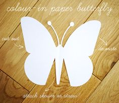 color in your own Paper Butterfly {with template}//Will use this for a grief exercise w/ kiddos