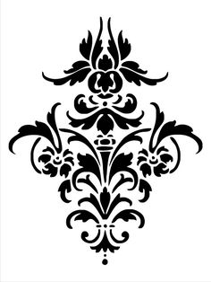 Print out damask pattern on a piece of posterboard, use a razor blade to cut out the black parts, and stencil paint a sweet pattern on the wall!