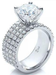 Looks like a pretty 25th anniversary ring. Custom Diamond Engagement Ring, Platinum, #diamonds
