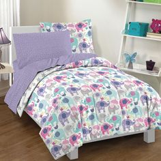 Shop for Elley Elephant 7-piece Bed in a Bag with Sheet Set. Get free delivery at Overstock.com - Your Online Kids'