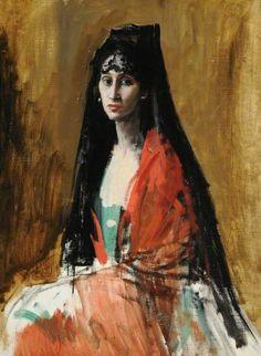Señora Gandarillas, c.1916 by Augustus John (1878-1961)