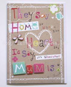 Typography Mother's Day design copyright Marks and Spencer . Rachael Taylor