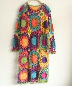 Vintage Handmade Crochet Long Sleeve Top #crochet-long-sleeve-top #crochet-top #handmade-top