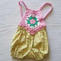 Hand Made Crochet Romper by CharleesDaydreams on Etsy