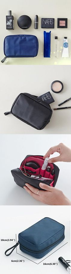 US$5.98 Five Colors Women Nylon Cosmetic Bag Outdoor Portable Little Travel Storage Bag
