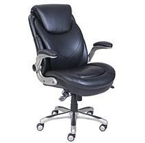 Air Manager's Bonded Leather Chair, Black