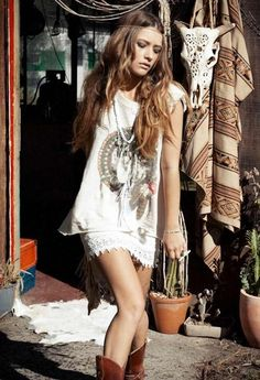 Summer Style :: Beach Boho :: Festival Outfits :: Gypsy Soul :: Bohemian Beauty :: Hippie Spirit :: Free your Wild :: See more Untamed Fashion + Style Inspiration Boho Gypsy, Bohemian Mode, Hippie Boho, Bohemian Style, Boho Chic, Gypsy Cowgirl, Hippie Style, Estilo Hippie Chic, Gypsy Style