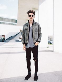 Christoph Schaller - Acne Studios Jeans, Ray Ban Ray Ban Sunglasses - DON'T LOOK BACK INTO THE SUN