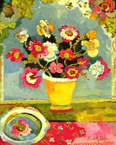Kimberly Hodges...LOVE this so much!!!  Colour, floral, vintage - cottage vibe!!!