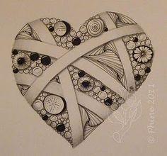 I love zentangle!: #zentangle #drawing #line
