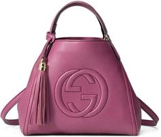Gucci Soho Leather Small Shoulder Bag, Pink