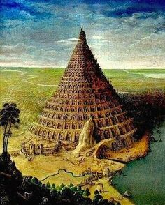 Thru the Bible: The Tower of Babel Ancient Mysteries, Ancient Ruins, Ancient History, Art History, Turm Von Babylon, Thru The Bible, Epic Of Gilgamesh, Tower Of Babel, Fantasy Places