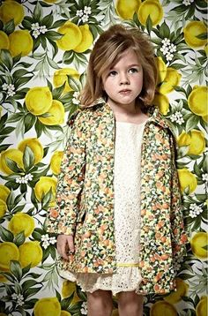 Citrusy sweet clothes for little girls.