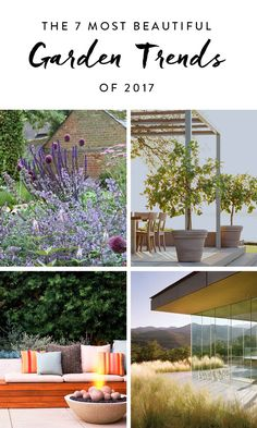 The 7 Most Beautiful Garden Trends of 2017 #purewow #home #decor