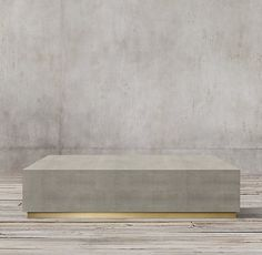 "Another amazing 60"" design. $1800. Graydon Shagreen Plinth Square Coffee Table"