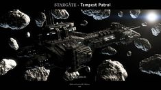 Stargate - Tempest Patrol 2018 A remake of an older render I did. Original design based on Stargate. Star Wars Spaceships, Sci Fi Spaceships, Stargate Ships, Space Series, Starship Concept, Space Battles, Wow Products, Atlantis, Scene