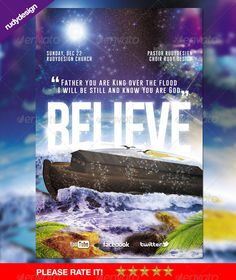Believe  Church Flyer Design — Photoshop PSD #tsunami #believe • Available here → https://graphicriver.net/item/believe-church-flyer-design/6436574?ref=pxcr