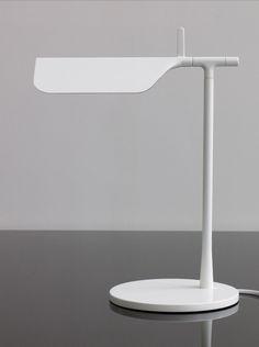 Edward Barber & Jay Osgerby / Barber & Osgerby / Flos / Tab T / White / Lamp / 2011 Interior Lighting, Home Lighting, Lighting Design, Room Lamp, Desk Lamp, Table Lamps, Bed Room, Light Table, Lamp Light