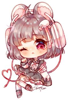 sketch chibi commission for ! VV Recent Art VV Please do not copy, edit, trace/heavily reference, use, or repost without my permission! Dibujos Anime Chibi, Cute Anime Chibi, Anime Girl Cute, Kawaii Anime Girl, Chibi Girl Drawings, Cute Kawaii Drawings, Cute Animal Drawings, Loli Kawaii, Kawaii Chibi