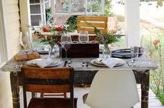 winter table dressing from Houzz