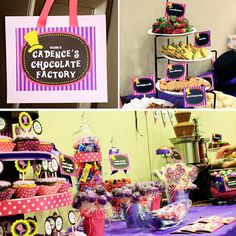 Girls Chocolate Factory Birthday Party Theme by 505design on Etsy, $30.00