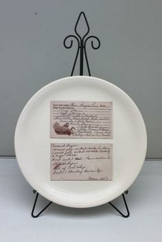 Custom Family Recipe Plate by ArtSmith | Hatch.co