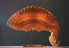 Dragon's Tail origami lamp ... made of paper